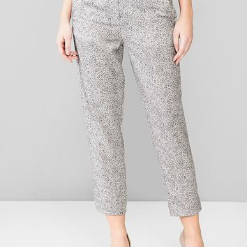 Printed Tencel Jogger Pants