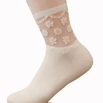 Streetstyle  Casual Lace Patchwork Cute Socks