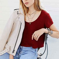 Truly Madly Deeply Scoop-Neck Cropped Tee-