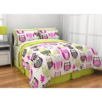 Latitude Sketchy Owl Reversible Bed in a Bag Bedding Set - Walmart.com