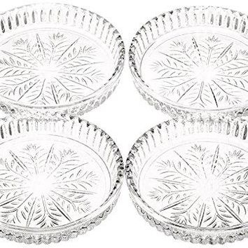 Crystal Clear Fifth Avenue Portico Coaster Set of 8