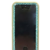 iPhone 5c OtterBox Defender Series Case Glitter Cute Sparkly Bling Defender Series Custom Case grey / blue topaz