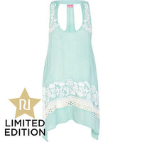 Light green crochet embroidered dress - cover-ups - swimwear / beachwear - women