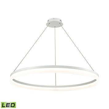1 Light LED Pendant in Matte White with Acrylic Diffuser - Large