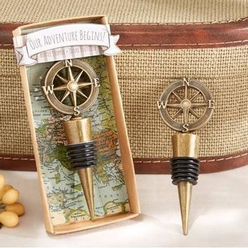 """Our Adventure Begins"" Bottle Stopper party souvenir presents 60pcs/lot"