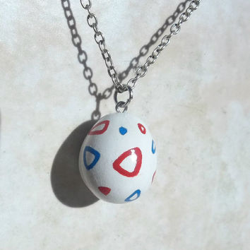 Togepi Egg Pokemon Clay Charm Necklace