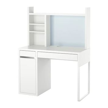 MICKE Workstation White 105 x 50 cm - IKEA