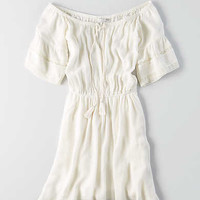AEO Tassel Dress, Toasted Coconut