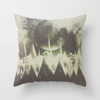 When mountains fall asleep Throw Pillow by HappyMelvin | Society6