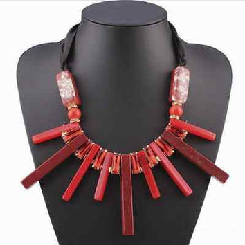 Luxury Choker Long Rope Vintage Geometric Necklace & Pendants Statement Sexy
