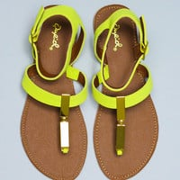I'm Charmed Sandal - Lemon Lime