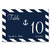 NAUTICAL ANCHOR | WEDDING TABLE NUMBERS