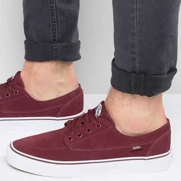 Vans Brigata Suede Trainers In Red VA2ZABJQR
