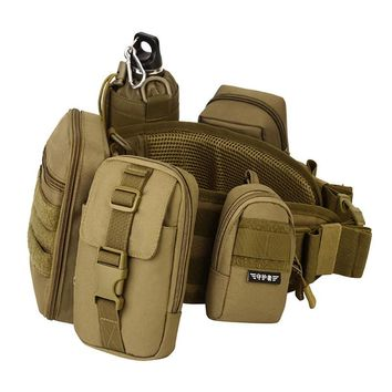 """Outdoor 6"""" EDC Molle Camping Hiking Tactical Bag Vice Package Wear Waist Belt Purse Sports Messenger Military Tool Bags"""