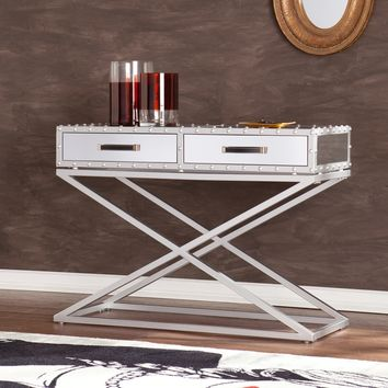 Harper Blvd Carollton Industrial Mirrored Sofa/ Console Table | Overstock.com Shopping - The Best Deals on Coffee, Sofa & End Tables