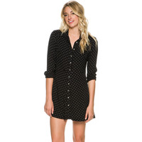 FREE PEOPLE THIS TOWN PRINTED BUTTON DOWN