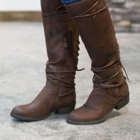 DCCKGE8 Marcelina Lace-Up Boots - Brown