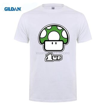 Super Mario party nes switch GILDAN Game  Bros T-shirt Cartoon Mushroom Men's T Shirt Printing Shirts Fashion Teenager Tops Homme Tees AT_80_8