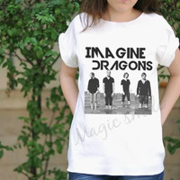 Imagine Dragons bands style - Premium cotton Crop tank, Tank Top, T-shirt, Long sleeve, unisex shirt, women tank, girl tank