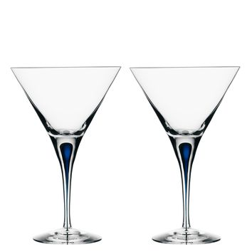 Intermezzo Blue Martini Glass - Set of 2