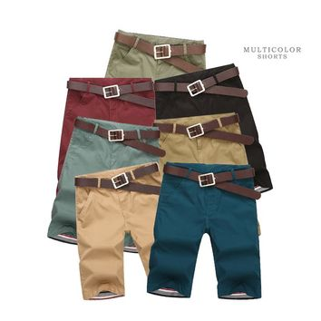 SexeMara 2017 New Mens Shorts Casual 2017 Summer Mens Short Pants Cotton Cargo Shorts Multi-color Pockets Fashion Shorts K223