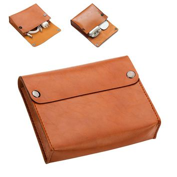 New Arrival High quality Leather Pouch case For Macbook Accessories Mouse Data Line Power Spply Storage Bag For Macbook Air Pro