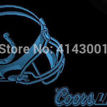 LS896-b- Indianapolis Colts Helmet Coors 3D LED Neon Light Sign Customize on Demand 8 colors to choose