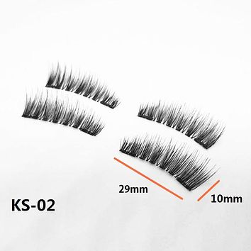 zwellbe 4 Pcs/2Pairs 3D Magnetic False Fake Eyelashes ORIGINAL LASH Eye Makeup Accessories Magnet Eye Lashes Extension Dropship