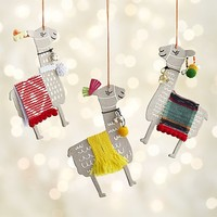 Paper Llama with Red Blanket Ornament.