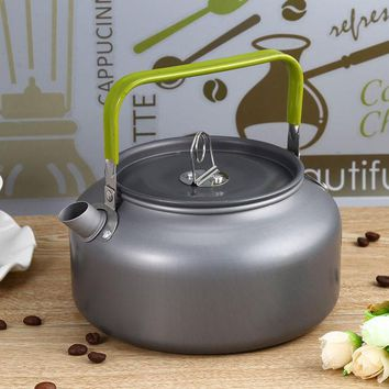 DCCKJG2 Portable 1.2L Teapot Kettles Aluminum Water Kettle Ultra-light Camping Survival Kettle Tea Coffee Pot Anodised Aluminum Outdoor
