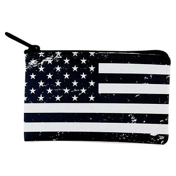 Black and White American Flag Coin Purse