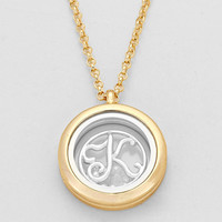 "Floating Monogram ""K"" Necklace Gold"