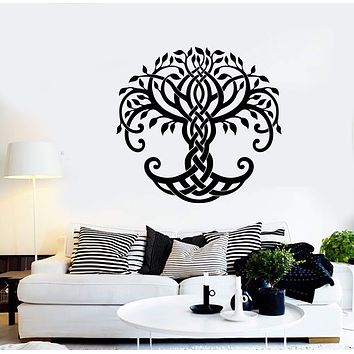 Vinyl Wall Decal Abstract Ornament Celtic Tree of Life Stickers (2365ig)