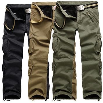 Hot Selling High Quality Men's Winter Cargo PANTS Fleece Inside Man Camouflage PANTS You Deserve It Size28-38