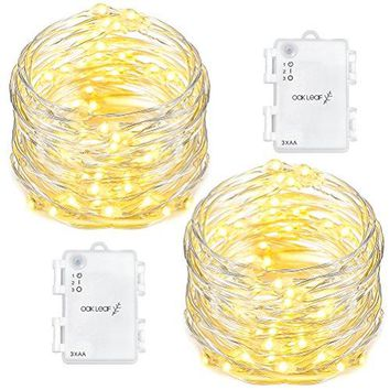 60 LED String Lights, 2 Pack 9.8ft Fairy Lights Starry Light Battery Operated Waterproof Decorative Lighting, for Outdoor Indoor Patio,Home,Garden,Party Decor,Warm White