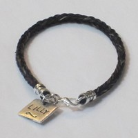 Horse Hair Bracelet with Custom Hand Stamped Name Charm