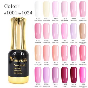 #60751 CANNI Long Latest Soak Off Starry Gel UV LED Glitter Lacquer Polish Manicure 12ml 120 Color Super shining Gel Nail Polish