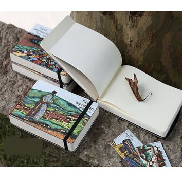Stationery wood A5 notebook sketchbook blank notepad watercolor paper school supplies dokibook