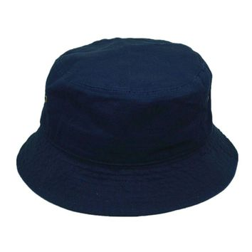 Men Women 100% Cotton Fishing BUCKET HAT CAP Boonie Brim visor Sun Safari NAVY
