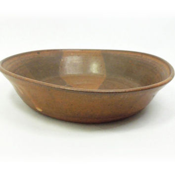 Ceramic bowl - Brown ceramic trinket bowl catch-all bowl jewelry tray candy dish - Dresser top tray - Zen home decor