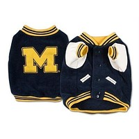 Michigan Wolverines Varsity Dog Jacket
