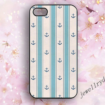 Anchor iphone case,navy anchor iphone 5/5s case,personality samsung galaxy s4 s5 case,geometric style iphone 4/4s case,blue and white group