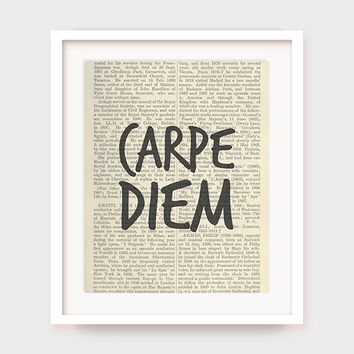 Latin Quote, Carpe Diem, Seize The Day, Inspirational Print, Motivational Quote Printable, Instant Download