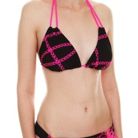 Kali Girlz Pink Chains of Love Swim Bottoms Size : Small