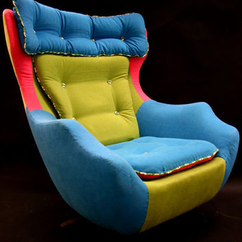 Fred A reupholstered 1960's swivel egg chair