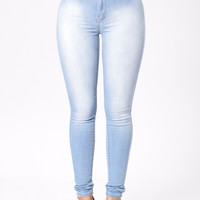 Sophie High Waist Jegging - Medium Blue