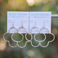 Quatrefoil Hoops (multiple colors)