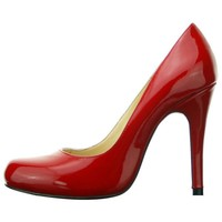 Bqueen Real Leather Megaheels Europestyle Red Pumps D006R gau
