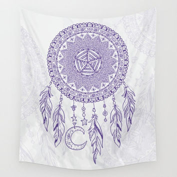 Purple Dream Catcher Tapestry Wall Hanging Meditation Yoga Grunge Hippie