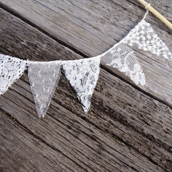 Lace cake topper, wedding cake topper, baby shower cake topper, bunting banner